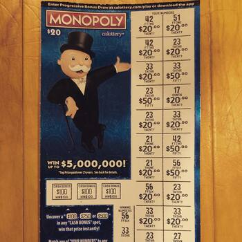 $1000 Monopoly scratcher win
